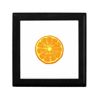 Naranja: Joyero Cuadrado Pequeño