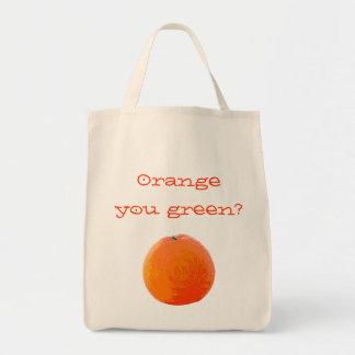 Naranja jugoso bolsa tela para la compra