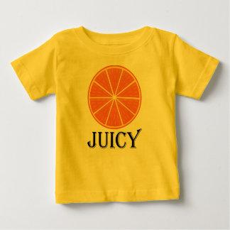 Naranja jugoso - camiseta fina del jersey del bebé