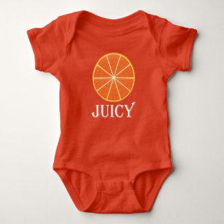 Naranja jugoso - mono del jersey del bebé