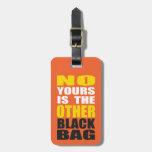 Naranja la otra etiqueta negra del equipaje del bo etiquetas bolsa