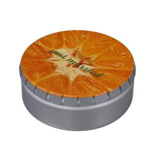 naranja jarrones de caramelos