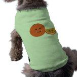 Naranja lindo camisas de mascota