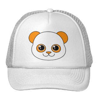 Naranja lindo de la panda gorra