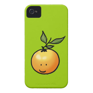 Naranja lindo del kawaii iPhone 4 carcasas