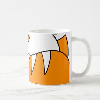Naranja lindo estupendo del tigre con las rayas taza de café