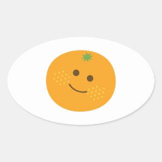 Naranja lindo pegatina