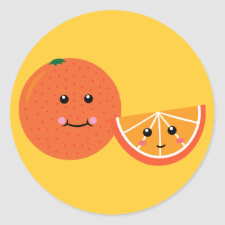 Naranja lindo etiqueta