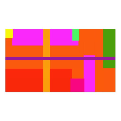 Naranja linear de la belleza tarjetas de visita