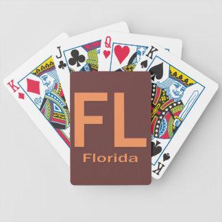Naranja llano de FL la Florida Baraja De Cartas