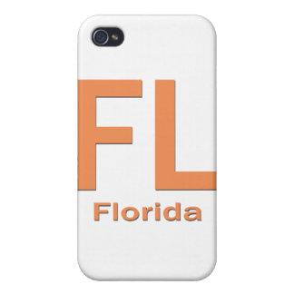 Naranja llano de FL la Florida iPhone 4/4S Carcasa