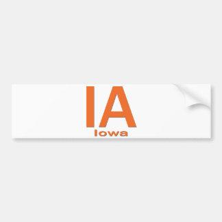 Naranja llano de IA Iowa Pegatina Para Auto