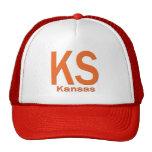 Naranja llano de KS Kansas Gorros