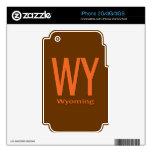Naranja llano de WY Wyoming Skin Para El iPhone 2G