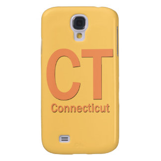 Naranja llano del CT Connecticut Funda Para Samsung Galaxy S4