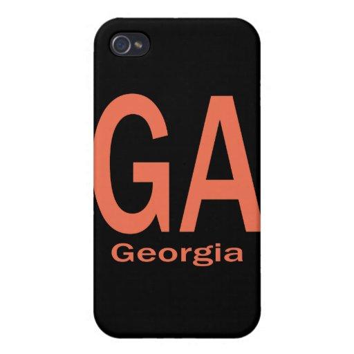 Naranja llano del GA Georgia iPhone 4 Cobertura