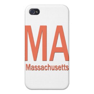 Naranja llano del mA Massachusetts iPhone 4 Cárcasas