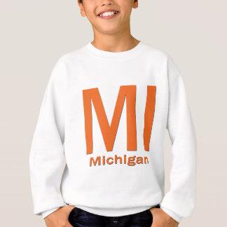 Naranja llano del MI Michigan Sudadera