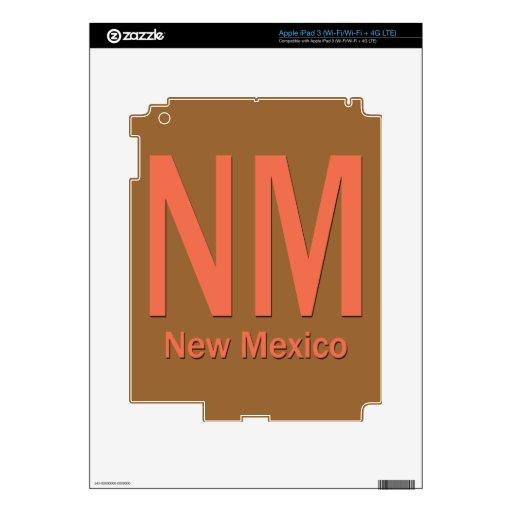 Naranja llano del nanómetro New México Pegatinas Skins Para iPad 3
