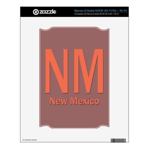 Naranja llano del nanómetro New México Skins Para elNOOK