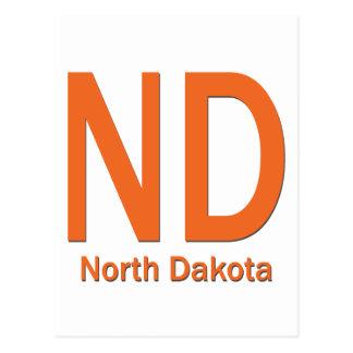 Naranja llano del ND Dakota del Norte Tarjeta Postal