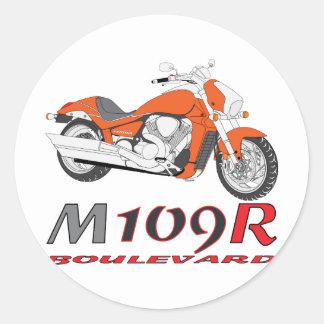Naranja M109R Etiqueta Redonda