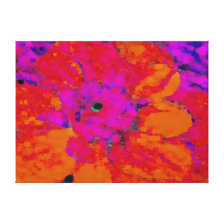 naranja, magenta, (rosada), dalia púrpura impresión en lienzo