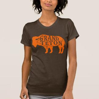 Naranja magnífico del búfalo de Teton Playera