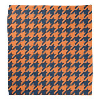 Naranja/marina de guerra Houndstooth Bandanas