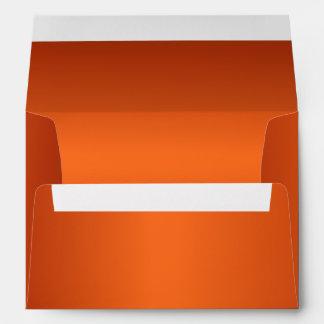 Naranja metálico sobre de 5 x 7 invitaciones