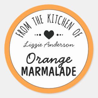 Naranja moderno de la cocina de la etiqueta