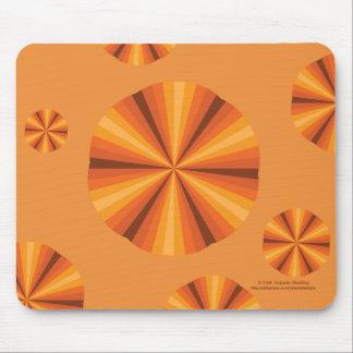Naranja Mousepad de la ilusión óptica Alfombrillas De Ratones