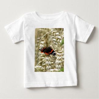 Naranja negro y mariposa manchada blanco playeras
