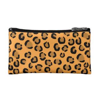 Naranja negro y modelo del estampado leopardo de