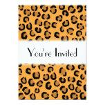 Naranja, negro y modelo del estampado leopardo de comunicados personales