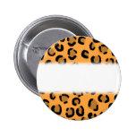 Naranja, negro y modelo del estampado leopardo de  pins