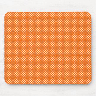 Naranja neto del modelo con blanco alfombrillas de ratón