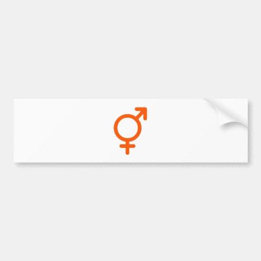 Naranja neutral del género los regalos de Zazzle d Pegatina Para Auto