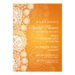 Naranja nupcial elegante del cordón de Paisley de  Anuncios Personalizados
