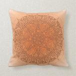 Naranja oriental/marrón de la almohada de la yoga