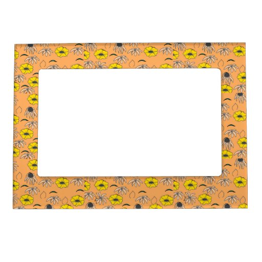 Naranja pálido de la mezcla floral, melón, marcos  marcos magnéticos para fotos