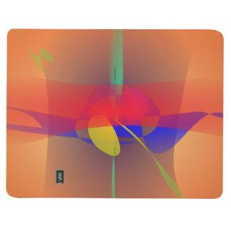 Naranja pálido y contraste azul cuadernos