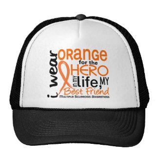 Naranja para el ms del mejor amigo del héroe 2 gorro