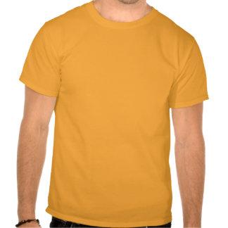 Naranja para hombre de la camiseta de la sol del c