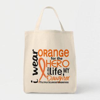 Naranja para la esclerosis múltiple del ms de la h bolsa tela para la compra