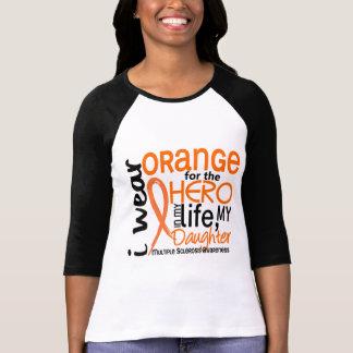 Naranja para la esclerosis múltiple del ms de la h camisetas