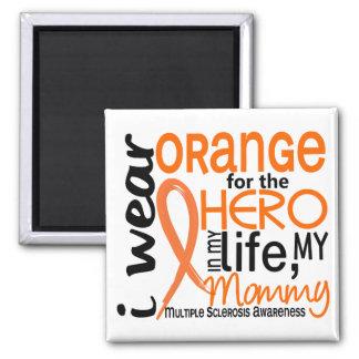 Naranja para la esclerosis múltiple del ms de la imán cuadrado