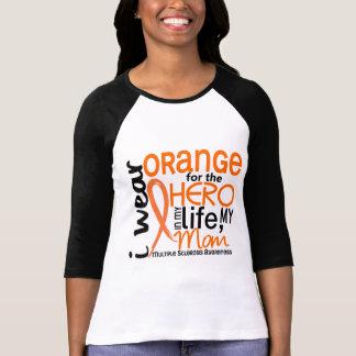 Naranja para la esclerosis múltiple del ms de la m camiseta