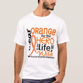 Naranja para la esclerosis múltiple del ms de la playera