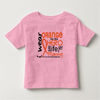 Naranja para la esclerosis múltiple del ms de la playeras